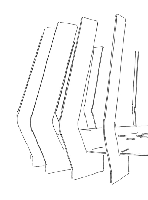 FireBlades Fire Pit Product Sketches