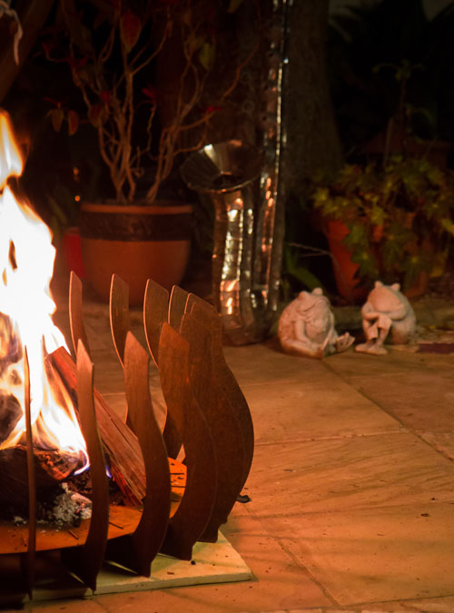 FireBlades Designer Fire Pit - Flame