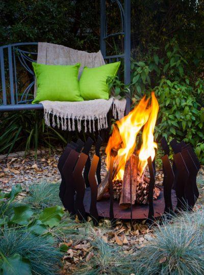 FireBlades designer fire pit - Zigzag
